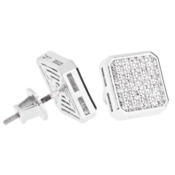 Iced Out Bling Micro Pave Ohrstecker - SLICED 10mm