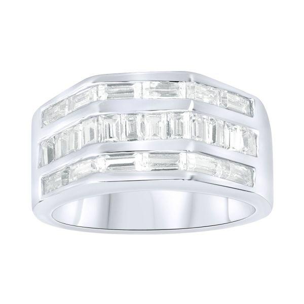 Sterling 925er Silber Pave Ring - HEXAGO
