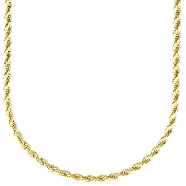 Fashion Unisex Rope Kordelkette - 3mm gold
