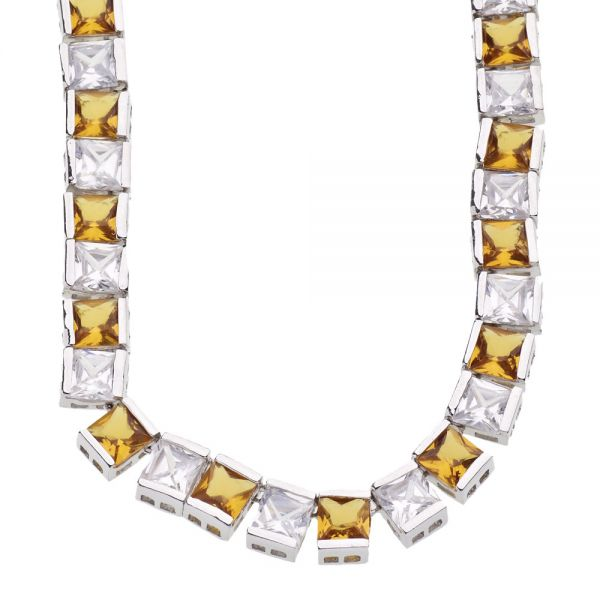 ICED OUT BLING Kette - 6mm Yellow Zirkonia
