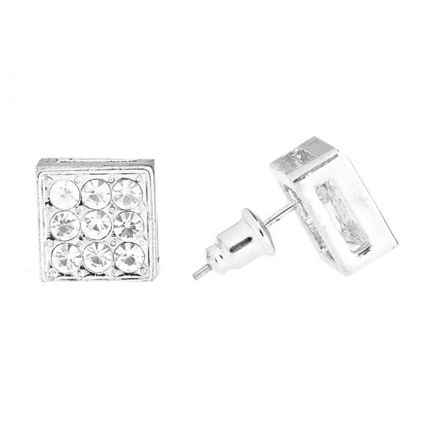 Iced Out Bling Ohrstecker Box - HIP HOP 10mm
