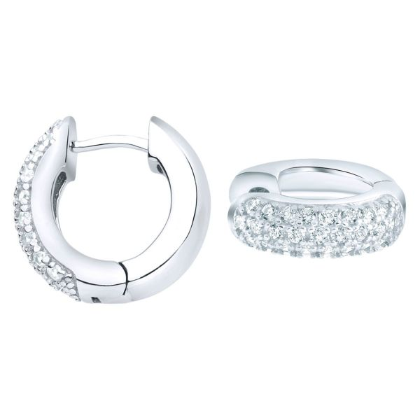 Sterling 925er Silber HOOP Ohrstecker - BLING KING 10mm