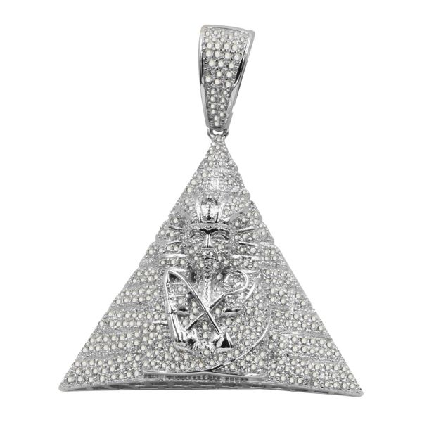 925 Sterling Silber 3D Anhänger - Ägyptische Pyramide